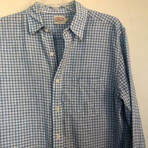 Faherty Linen Button Down Long Sleeve Checks Shirt